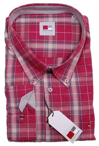 MENS LARGE JUPITER CASUAL SHIRT RED SIZE 5XL