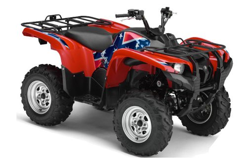 AMR Racing ATV Graphics kit Sticker Decal Compatible with Kawasaki Brute Force 750i 2005-2011 Meltdown Silver Black