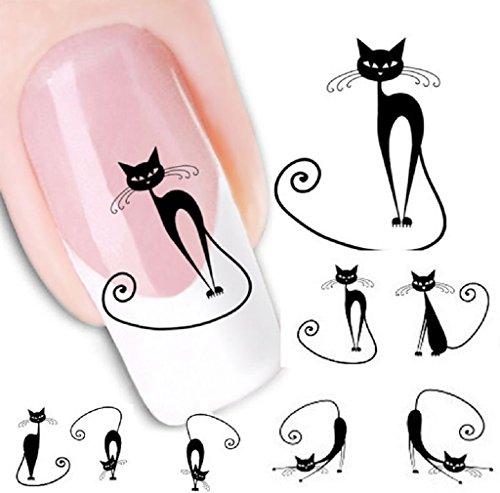 tenworld-1-sheet-cat-water-transfer-slide-decal-sticker-nail-art-tips-to-decor