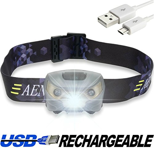 Headlamp Flashlight - USB Rechargeable - Super Bright, Lightweight & Comfortable, Easy to Use - Perfect for Running, Walking, Camping, Reading, Hiking, Kids, DIY & More
