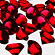 CYS® Vase Fillers Acrylic Diamond Confetti (4 Lbs) Approx. 1040 pcs, Vase Filler or Table Scatter -Red