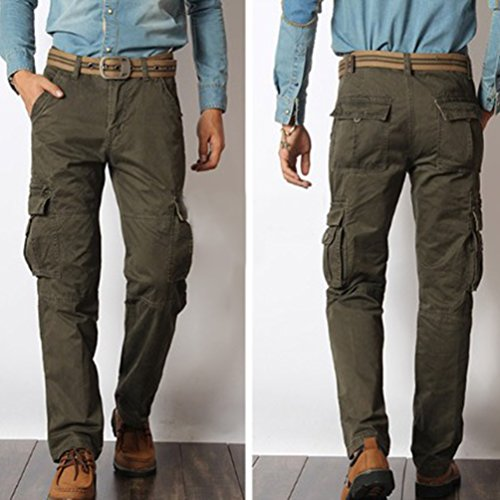 baymate homme casuel pantalon cargo militaire multi poches pour hommes chic pantalons altisports. Black Bedroom Furniture Sets. Home Design Ideas