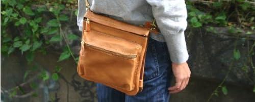 手作り鞄工房ヘルツ[HERZ]本革製小型ショルダーバッグC124(キャメル/ブラウン)