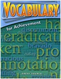 Great Source Vocabulary for Achievement: Student Edition Grade 9 Third Course 2006