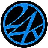 (24カラッツ) 24KARATS ROUND STICKER 24カラッツ ラウンド ステッカー STICKER 852128-BK×BL F ブラック×ブルー