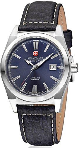 Swiss Military Hanowa - 05-4194.04.003 - Montre Homme - Automatique - Analogique - Bracelet Cuir Bleu