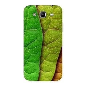 Impressive Leaf Pattern Multicolor Back Case Cover for Galaxy Mega 5.8