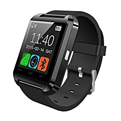 Premsons Bluetooth smart watch Compatible with 99% Android Smartphones iOS Apple iPhone 4/4S/5/5C/5S/6/6 Plus/6S/6S Plus, Samsung S2/S3/S4/Note 2/Note 3, Nexus 6, Moto G3/ G4, Xiaomi Redmi Note 2/3, Coolpad Note 2/3, HTC, Sony, Blackberry(Black/Red)