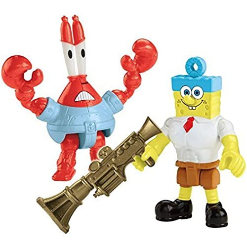 Fisher-Price Imaginext Nickelodeon SpongeBob SquarePants Movie (2-Pack), Invinci Bubble and Sir Pinch-a-lot Figures [병행수입품]