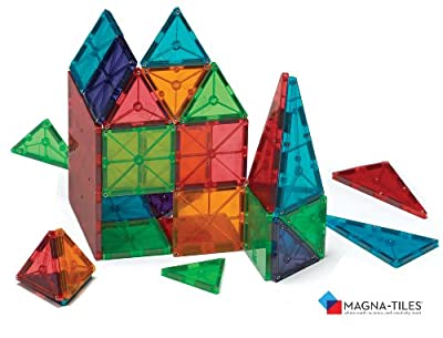 Magna-Tiles® Clear Colors 100 Piece Set from Valtech llc