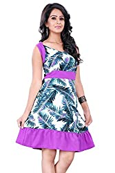 Trendif Women's Dress (1032_Pink Multicolor_X-Large)