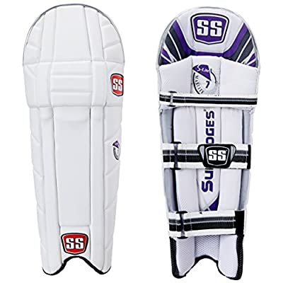 SS Maxlite Boy's RH Batting Legguard (White/Grey)
