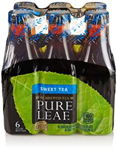 Lipton PureLeaf Iced Tea, Sweet, 18.5 oz Bottle (6-Pack)