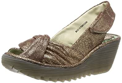 Fly London Yakin, Women's Wedge Sandals, Brown, 7 UK