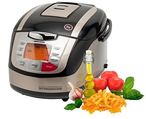Redmond-RMC-M4502-MD-15816-Multikocher-mit-3D-Heizsystem-Temperaturbereich-von-40-160-34-Kochprogramme-16-automatische-und-18-manuelle-Kochprogramme-titan
