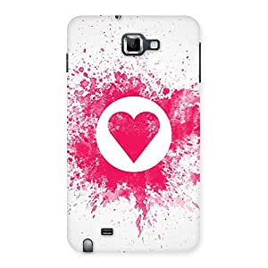Cute Heart Splash Multicolor Back Case Cover for Galaxy Note