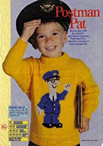 Easy Knitted Headband Free Pattern : Childs Postman Pat Motif Jumper Knitting Pattern: To fit chest 22