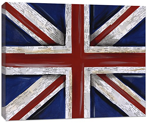 Doodlefish Union Jack Flag Wall Hanging Artwork, Red/Blue/White