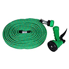 Garden Water 15m Hose Hoses Reels High Pressure Water Wash Pipe Spray Nozzle Sprayers Nozzles