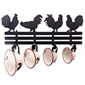 Rooster Wall Rack with Measuring Cups