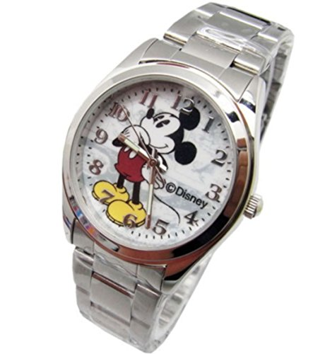 "Disney Unisex Watch Mickey Mouse ""Vintage"". Analog Large Display. Glow In The Dark Hands. 0"