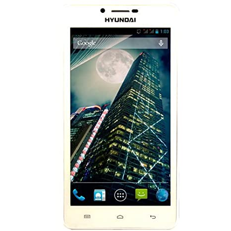 """Hyundai SP Quad Core 6"""" Smartphone débloqué (6 pouces - 4 Go) Blanc (import Espagne)"""