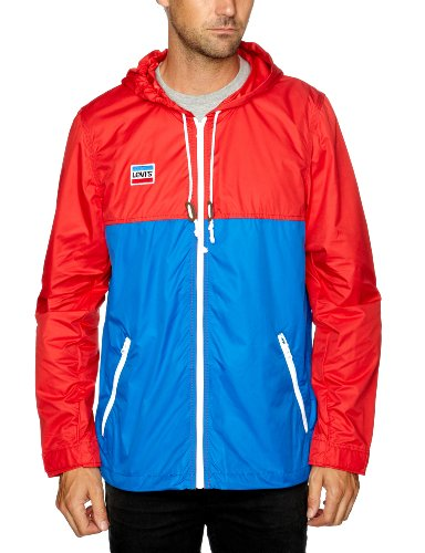 Levi's Nylon Jacket Men's Jacket Red / White / Blue Olympic Colorway Large