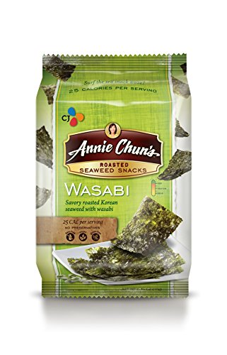 Annie Chun's Roasted Seaweed Snacks, Wasabi, 0.35 Ounce (Pack of 12) (Seaweed Chili compare prices)
