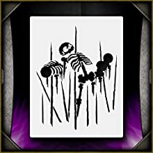 Spiked Skeleton 1 AirSick Airbrush Stencil Template