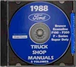 1988 ford van e150 e250 e350 repair shop manual cd. Black Bedroom Furniture Sets. Home Design Ideas