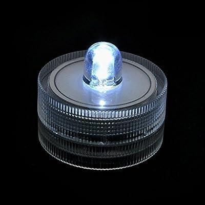 Set of 36 Waterproof Wedding Underwater Battery Sub Lights LED ~White~wedding~tea Light-underwater Lights from Elisona