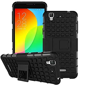 Carla Hard Dual Amor Hybrid Bumper back case with Flip Kick Stand for MICROMAX Ureka by Carla Store.