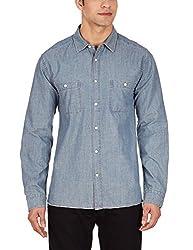 Quiksilver Men's Casual Shirt (3613370615674_EQYWT03210_Small_Dark Denim)