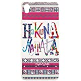Purple Eyes Its Hakuna New Glow Back Case Cover Case Cover For Micromax Canvas Fire A104