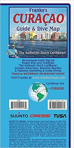 Curacao Dive & Adventure Guide Franko Maps Waterproof Map