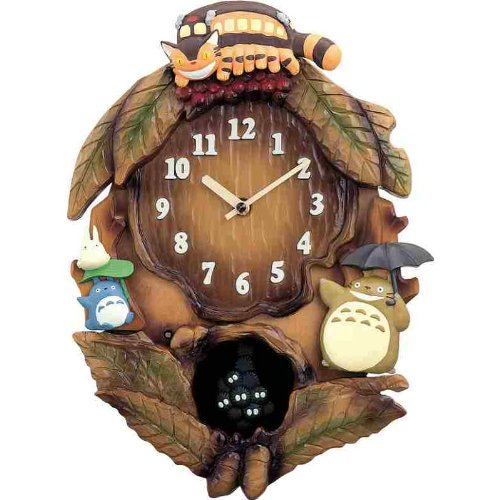 CITIZEN [citizen] rhythm clock made by decorative wall clocks with pendulum Totoro 4MJ837MN06 size / color choice tea