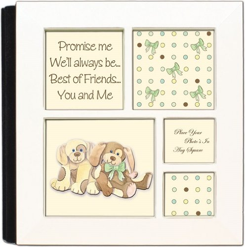 Promise Me Baby Ivory Cottage Garden Photo Album with Frame