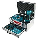 """Makita BHP453RHEX5 Akku-Schlagbohrschrauber im Alukoffer inkl. 96-tlg. Zubeh�rset, 2 Akkus und Ladeger�tvon """"Makita"""""""