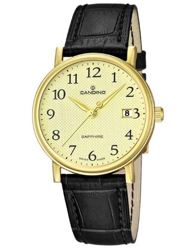 Candino Swiss Made can-22802-HAU - Reloj para hombres, correa de cuero color negro