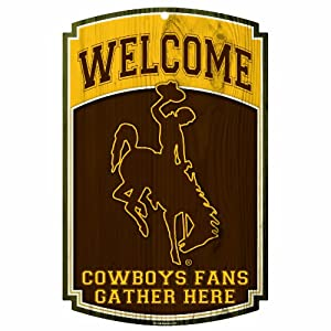 Buy NCAA Wyoming Cowboys 11-By-17-Inch Traditional Look Wood Sign by WinCraft