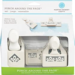 Martha Stewart Crafts Punch Around the Page, Ribbon Loop Punch Set