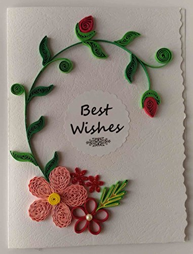 Card In Colour Handmade Best Wishes Greeting Card250 Rs Mrp 300