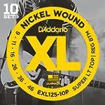 D'Addario EXL125-10PQS Nickel Plated...
