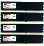 Komputerbay 32GB (4x 8GB) 240 Pin RAM Desktop Memory 1600MHz PC3-12800 DDR3 DIMM with Heatspreaders - Black