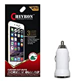 Chevron Matte Screen Guard Protector For Micromax A350 Canvas Knight With USB Car Charger