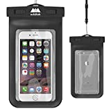 Universal Waterproof iPhone Case by Wildtek. For iPhone 6, 6 plus, 5, 5s, 4, Samsung Galaxy S4, Samsung Note, GPS, mp3 player, passport. Also works as a waterproof wallet, dry bag, pouch. Touch responsive front and back...devices are fully usable in the case. Durable, Eco-Friendly construction and IPX8 Certified to 100ft. Lifetime Warranty.