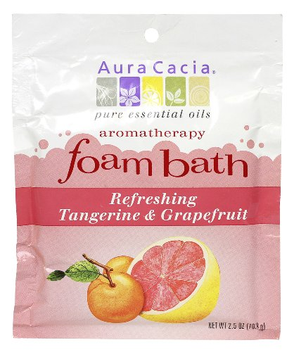 Aura Cacia Aura Cacia Aromatherapy Foam Bath, Refreshing Tangerine and Grapefruit, 2.5 ounce packet