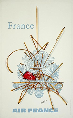 air-france-france-medium-matte-print