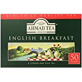 Ahmad Tea English Breakfast Teabag, 50 Count (Pack of 12)