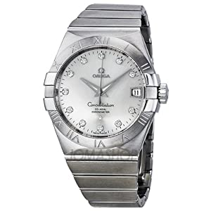 Omega Constellation Silver Dial Stainless Steel Mens Watch 12310382152001